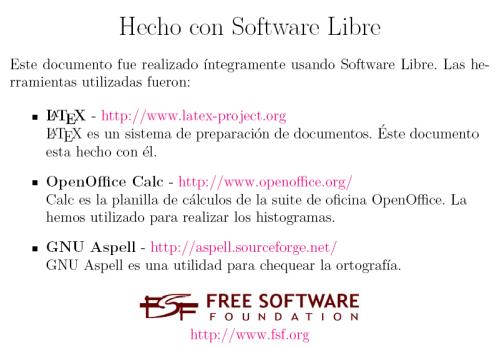 Hecho con Software Libre